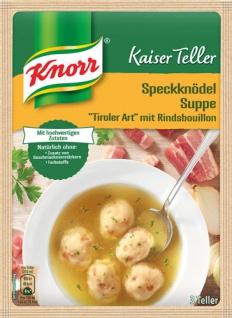 Knorr Kaiser Teller Speckknödel-Suppe Tiroler Art mit Rindsbouillon, 3 Teller