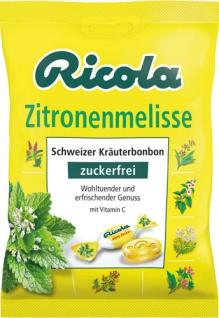 Ricola Zitronenmelisse, Schweizer Kräuterbonbons zuckerfrei