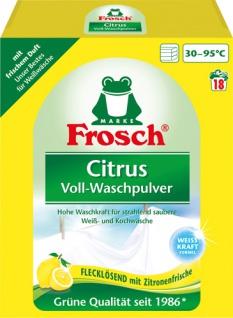 Frosch Waschmittel Citrus, Vollwaschmittel-Pulver BIO 18 WG