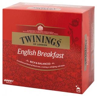 Twinings English Breakfast, Schwarztee, Teebeutel im Kuvert