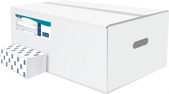 Paloma Professional Papier-Falthandtücher weiss, V-Faltung, 24x11cm, 2-lagig