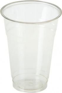 naturesse Becher geeicht 0, 5 Liter, transparent, aus PLA-BIO-PLASTIK