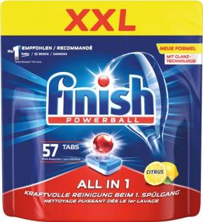 finish All-in-1 XXL Powerball-Tabs CITRUS Kraftvolle Reinigung, inkl. Salz- und Klarspülfunktion