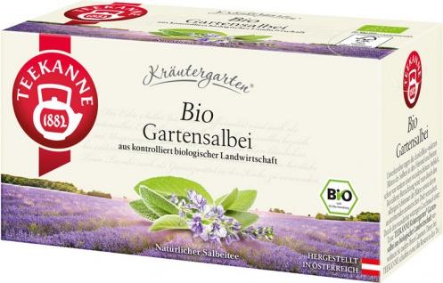 Teekanne Kräutergarten Bio Gartensalbei, Teebeutel im Kuvert