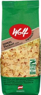 Wolf Dinkel Fleckerl, vegan, Papierpackung