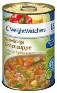 Weight Watchers Feinwürzige Linsensuppe mit Gemüse & geräuchertem Fleisch