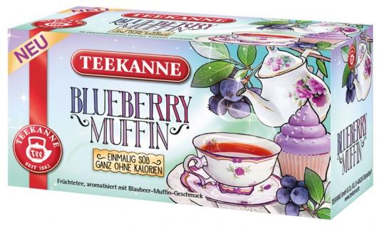Teekanne Sweetea Blueberry Muffin, Früchtetee, Teebeutel im Kuvert