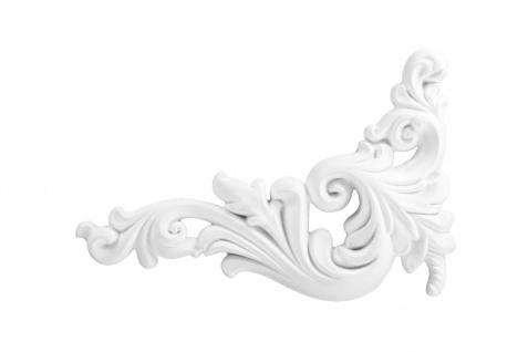 1 PU Dekorelement Stuckdekor Ornament stoßfest Hexim 135x250mm FR10