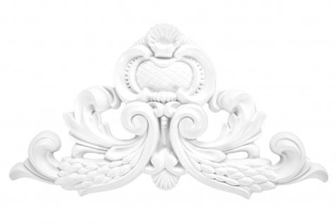 1 Ornament Dekorelement PU Stuckdekor Innen Wanddekor stoßfest 230x387mm, A604