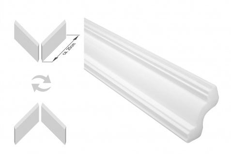 Stuckleisten inkl. Eckprofile XPS Dekor stabil 45x45 Marbet Sparpaket E-40-NK - Vorschau 1