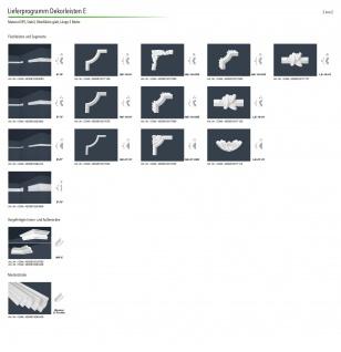 Stuckleisten Zierleisten Eckleisten stabil XPS Sparpaket Marbet 45x67mm E-35 - Vorschau 4