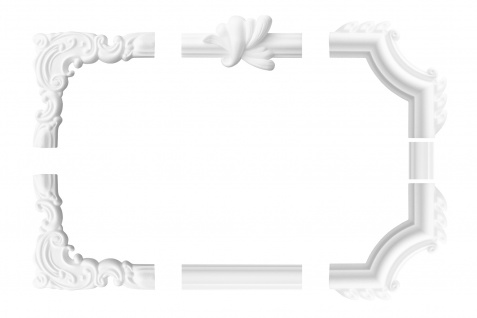 Wandumrandung Deckenumrandung Fries Stuck Dekor Rahmen Styropor Auswahl XPS E-18