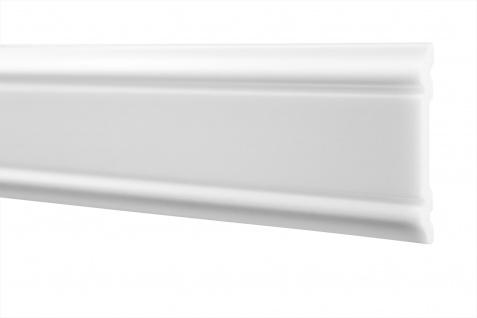 2 Meter Flachleiste Stuck Wand Profil stoßfest Innen HXPS 8x47mm HW-3