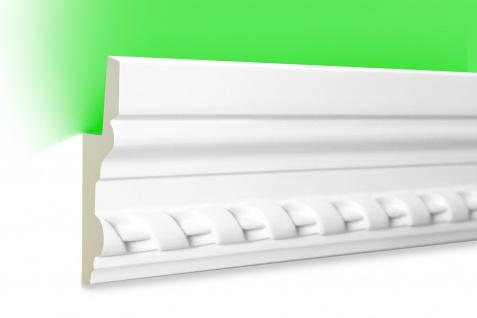 2 Meter LED Profil PU Stuck indirekte Beleuchtung stoßfest Hexim 105x35mm LED-5