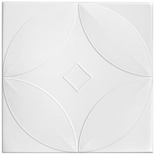 1 qm Deckenplatten Polystyrolplatten Stuck Decke Dekor Platten 50x50cm Nr.63