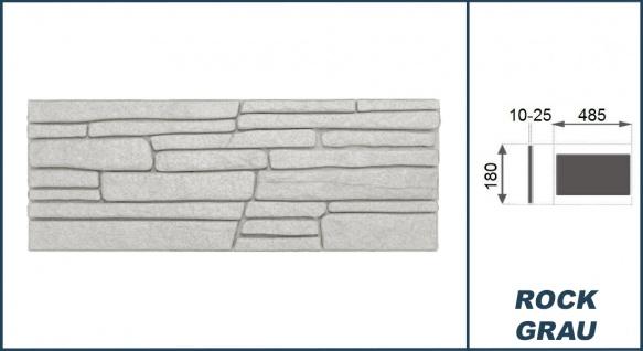 Dekorsteine   Steinoptik   Styroporplatten   Verblender   48x18cm   Rock grau - Vorschau 3