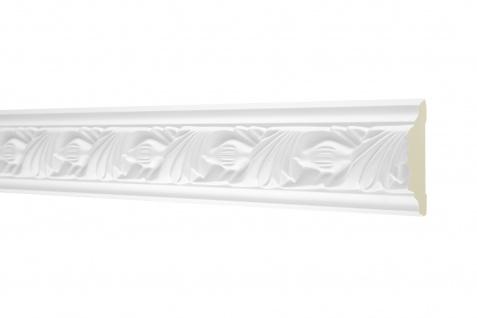 2M Flachprofil 53x24mm - Stuckleiste aus PU gemustert, stoßfest - Perfect AC258