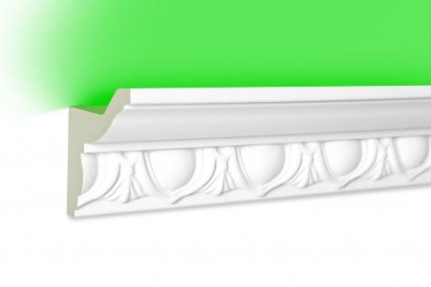 2 Meter LED Profil PU Stuck indirekte Beleuchtung stoßfest Hexim 58x48mm LED-3
