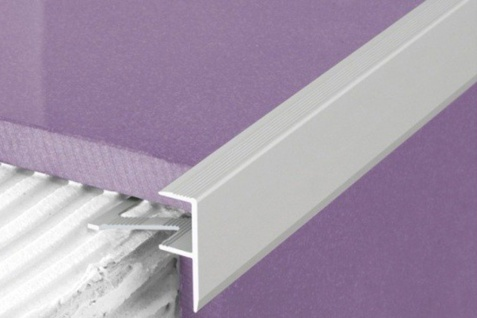 1 Meter | Fliesenleiste Alu eloxiert F-Form | Effector | 23x8mm | A85