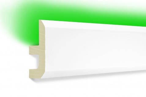 2m LED Profil indirekte Beleuchtung lichtundurchlässig Leiste 80x40 LED-13