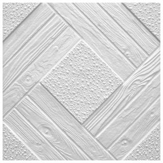 1 qm Deckenplatten Polystyrolplatten Stuck Decke Dekor Platten 50x50cm Duet