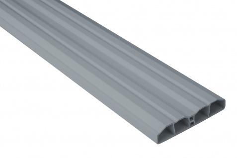 Zaunlatte PVC Garten Außenbereich Profile grau Sparpaket Hexim 80x16mm PZL-10