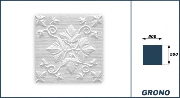 Sparpaket Deckenplatten Polystyrolplatten Stuck Decke Dekor Platten 50x50cm Grono - Vorschau 3