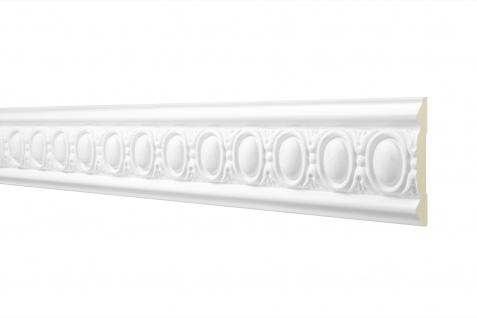 2M Flachprofil 82x17mm - Stuckleiste aus PU gemustert, stoßfest - Perfect AC250