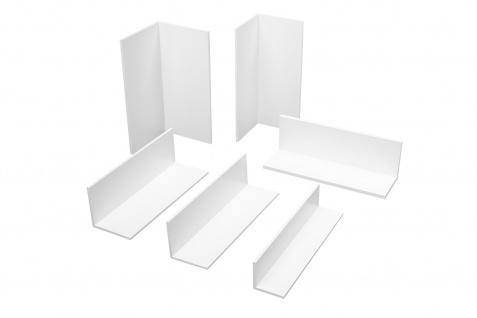 2m Winkelleisten Abdeckwinkel Fensterleisten PVC Kunststoff weiß gleichschenklig
