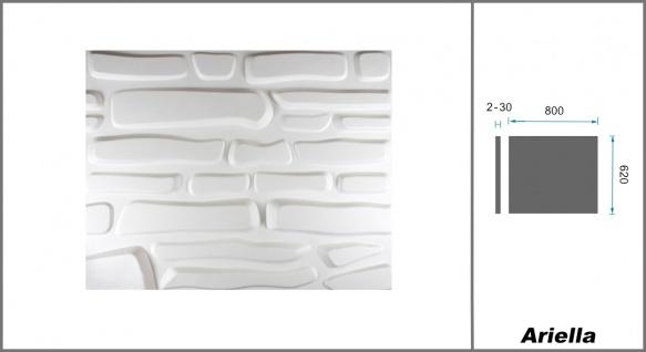 1 qm 3D Platten Natur Stuck ökologisch Paneele 3D Elite Panels 63x80cm Ariella - Vorschau 2