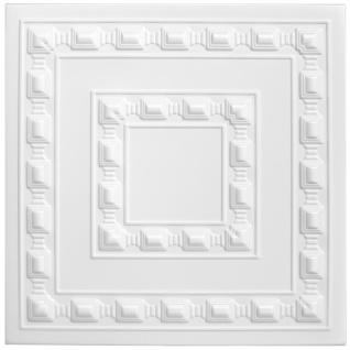 1 qm Deckenplatten Polystyrolplatten Stuck Decke Dekor Platten 50x50cm, Nr.06