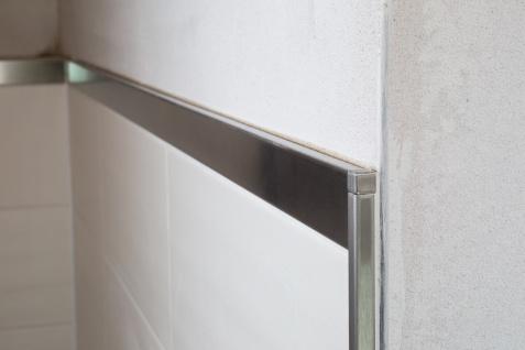 Sockelprofil 10mm | Edelstahlschienen - silber gebürstet | ES Sparpaket - Vorschau 4