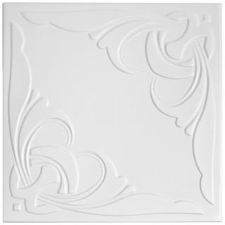 1 qm Deckenplatten Polystyrolplatten Stuck Decke Dekor Platten 50x50cm Nr.95
