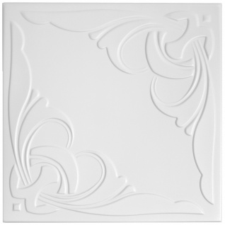 1 qm Deckenplatten Styroporplatten Stuck Decke Dekor Platten 50x50cm Nr.95
