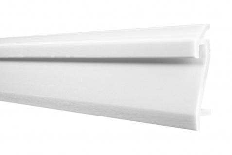 2 Meter LED Sockelleiste Berliner Fußleiste stoßfest HXPS 109x22mm HF-3