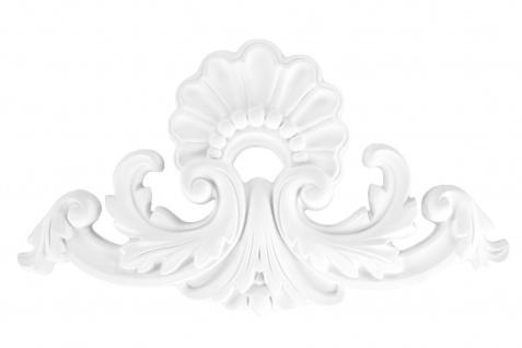 1 Ornament Dekorelement PU Stuckdekor Innen Wanddekor stoßfest 220x410mm, A603