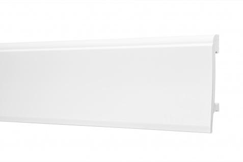 2 Meter Sockelleisten HXPS Eckleisten Ecopolimer stoßfest Cosca 100x22mm CP22
