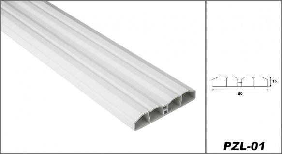 Zaunlatten | PVC | Gartenzaun | Balkonbrett | viele Farben | 2 Meter | PZL