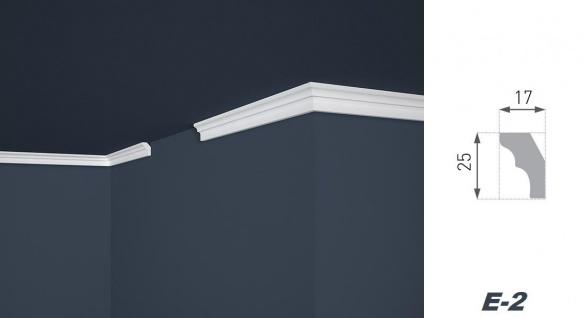 Stuckleisten Zierleisten Eckleisten stabil XPS Sparpaket Marbet 17x25mm E-2 - Vorschau 2