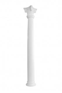 Säulen rund Fassade wetterfest robust Stuck Glasfaser GFK 225mm Set Auswahl L4