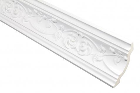 2 Meter PU Zierleiste Dekor Profil Innen stoßfest Hexim 74x70mm | FH9269