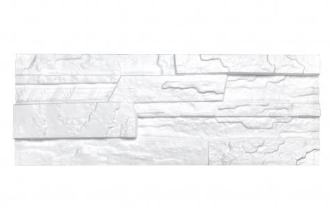 Sparpaket Verblender Polystyrolplatten weiß Stuck Wand Dekor Platten 48x18cm Stone