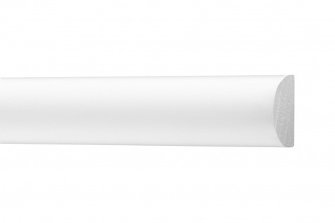 2 Meter Flachleisten HXPS Zierleisten Ecopolimer stoßfest hart Cosca 12x19mm CM12
