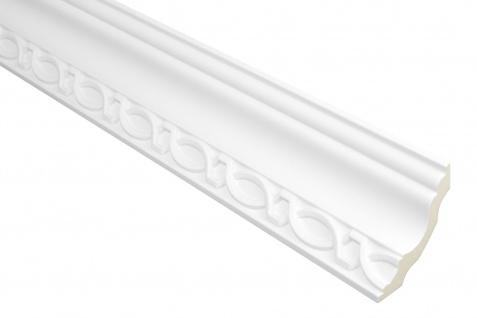 2 Meter | PU Profil Zierleiste Eckprofil Dekor stoßfest | Hexim | 73x68mm | FH0011