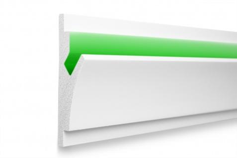 1, 15 Meter LED Profil XPS Stuck Trockenbau Tesori 150x55mm KD402