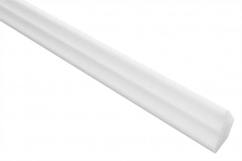 2 Meter Stuckleiste XPS Zierprofil Eckleiste stabil weiß 17x25mm E-2