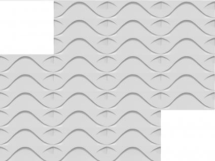 3D Wandpaneele Styroporplatten Wandverkleidung Wanddekor Verblender Stock Sparpaket - Vorschau 3