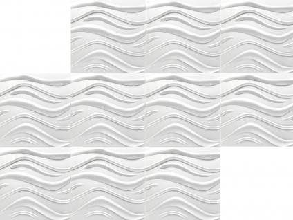 3D Wandpaneele Styroporplatten Wandverkleidung Wanddekor Paneele Wave 1 qm - Vorschau 3