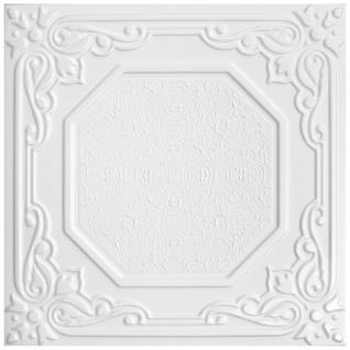 1 qm Deckenplatten Polystyrolplatten Stuck Decke Dekor Platten 50x50cm Nr.68