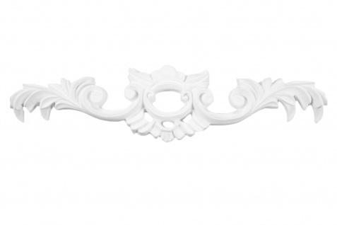 1 Ornament Dekorelement PU Stuckdekor Innen Wanddekor stoßfest 260x60mm, W819
